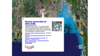 Mash-up: Google integriert News in Earth
