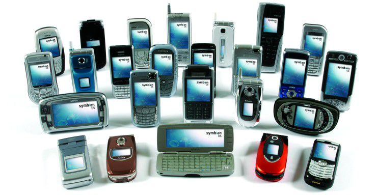 Ein Bild aus alten Zeiten: Symbian OS Mobiltelefone 2009