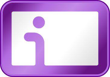 """""""Information Card willkommen"""": Das Logo der Information Card soll Internet-Nutzern signalisieren, dass sie sich hier mit ihrer digitalen Identität anmelden können."""