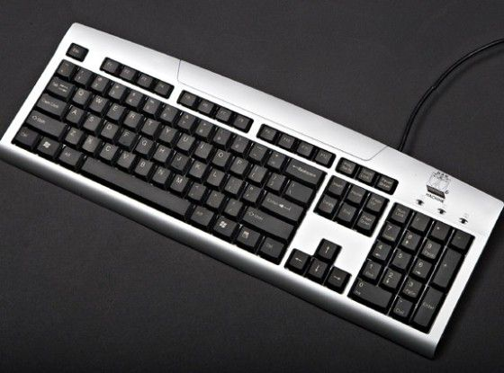 """Die Tastatur """"U Cool"""" von Man & Machine ist wasserdicht und soll vor allem in sehr hygieneempfindlichen Umgebungen eingesetzt werden."""