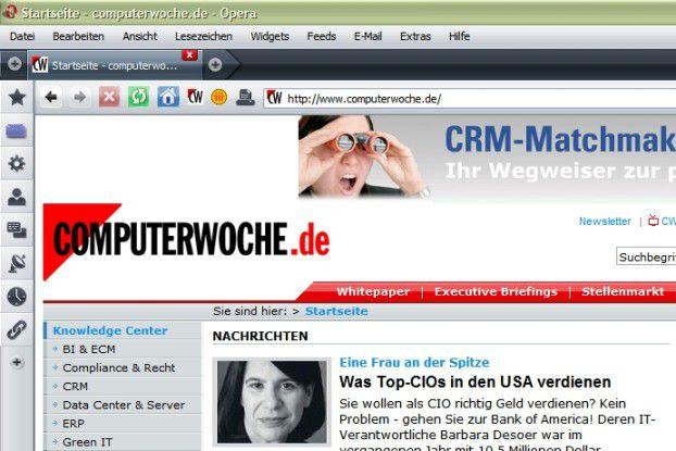 Zu den Neuerungen von Opera 9.5 zählt unter anderem eine Volltextsuche für besuchte Web-Seiten.