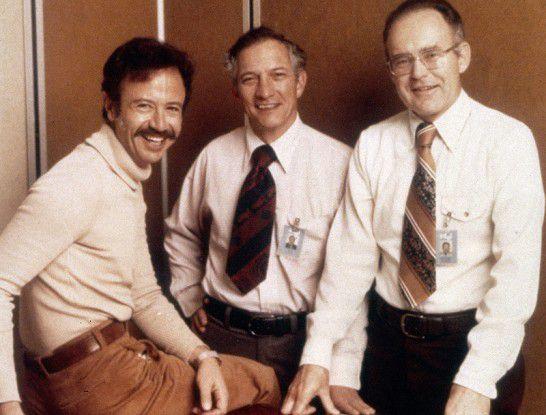 """Intels Gründungsmannschaft Andy Grove, Bob Noyce und der für das """"Moore'sche Gesetz"""" verantwortliche Gordon Moore."""
