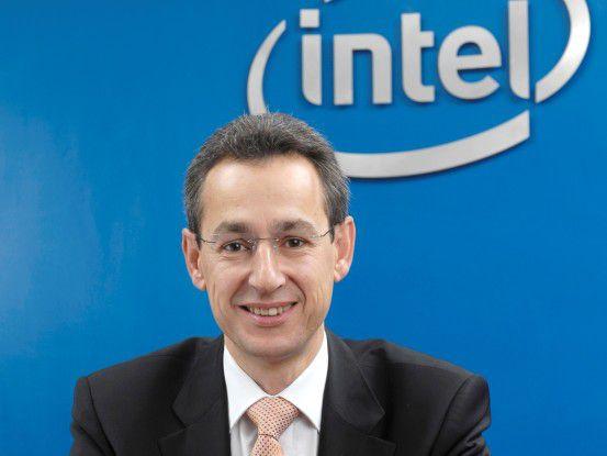 Stets optimistisch - Intels Deutschland-Chef Hannes Schwaderer.