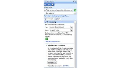 Windows Live Translation: Microsoft Office erhält Online-Übersetzer
