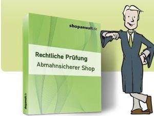 Shopanwalt.de bietet juristische Dienstleistungen zu festen Preisen.