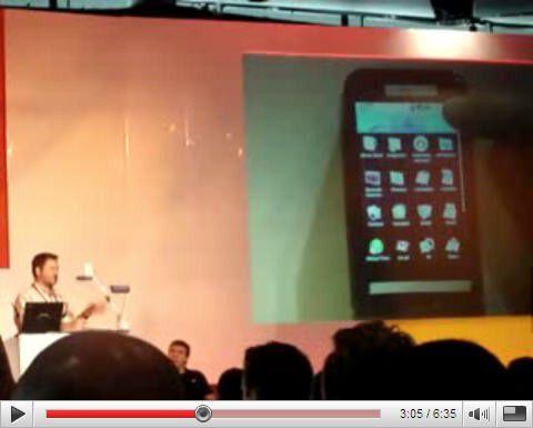 Im Youtube-Video ist <a href='http://www.youtube.com/watch?v=gXGQEsTt7Xk&amp;NR=1'>Android</a> auf einem serienreifen Endger&auml;t zu sehen.