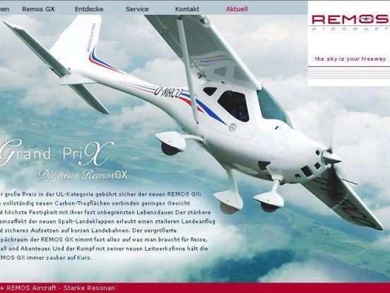Hobby wurde Beruf: Färber übernahm vor einigen Jahren die Firma Remos, einen Hersteller für Motorleichtflugzeuge.