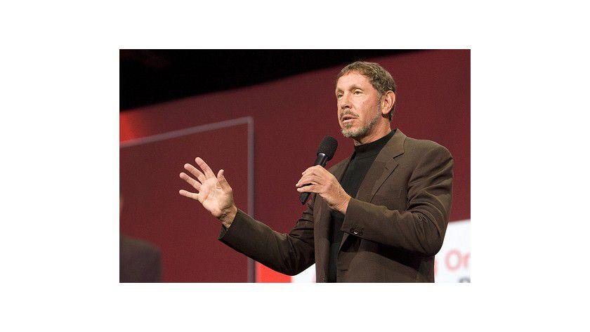 Larry Ellison bei der OracleWorld 2008