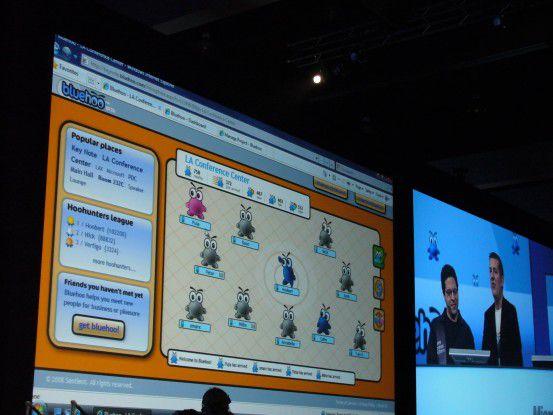 Netzwerken mit Bluehoo auf der PDC 2008 in Los Angeles