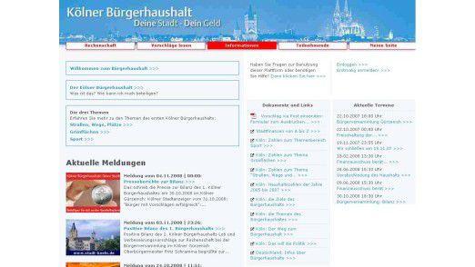 Die Stadt Köln macht es vor: Sie hat ihre Bürger via Web an der Haushaltsplanung teilhaben lassen.