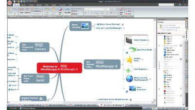 Mindjet MindManager 8 : Mind Mapping verbindet Office, Datenbanken und Web