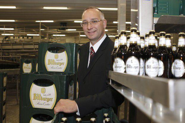 """Uwe Siller, Leiter IT und Organisation bei Bitburger wurde beim """"CIO des Jahres 2008"""" in der Kategorie Mittelstand Dritter."""