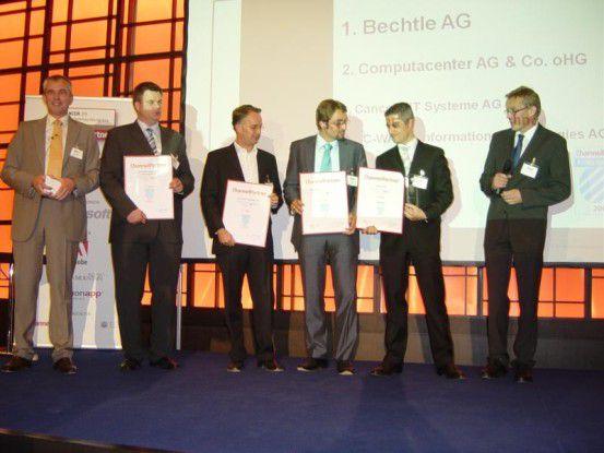 So sehen Sieger aus! Die Gewinner des Systemhaus-Awards aus dem Vorjahr.