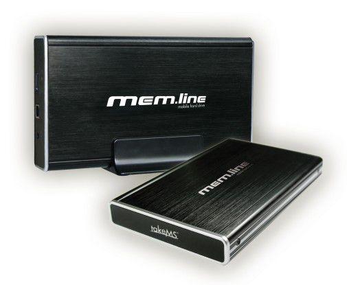 Ein Aluminium-Gehäuse soll die Mem.line-Laufwerke von TakeMS vor Stößen schützen.