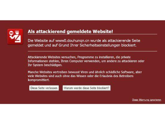 Plakativ: Googles Safe Browsing warnt den Web-Surfer vor potentiell gefährlichen Websites.