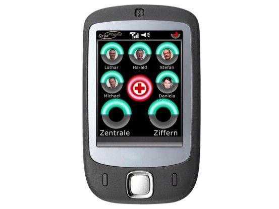 Das OrgaPhone Modell S lässt sich individuell konfigurieren. Bei Bedarf hilft ein Call-Center-Agent.