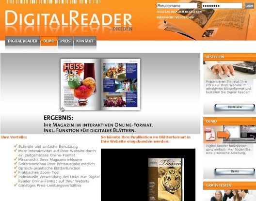 Digital-Reader bringt PDFs in Bewegung.