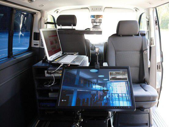 Blick in ein LTE-Testfahrzeug von T-Mobile