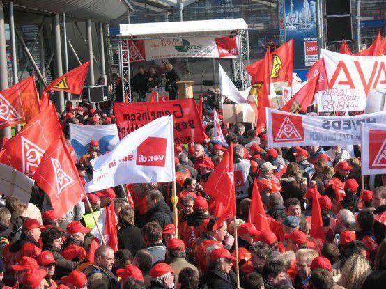 EDS-Warnstreik während der CeBIT 2009
