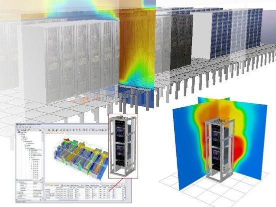 Mit der Software-Suite 6SigmaDC von Future Facilities sollen sich komplette Rechenzentren-Designs inklusive Wärmeverteilung, Luftzirkulation und Energiemanagement entwerfen, validieren, optimieren und verwalten lassen.