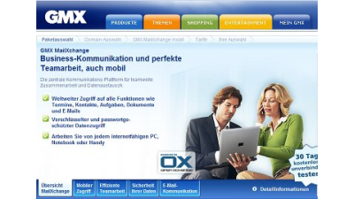 MailXchange: GMX bietet Push-Mail-Alternative zu Microsoft Exchange