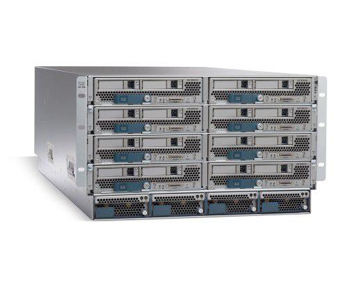 Ciscos Blade-Server mit kleinen Modulen.