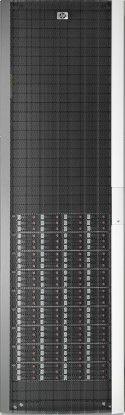 Im Speicherschrank der EVA 8400 von Hewlett-Packard finden bis zu 324 Festplatten Platz.