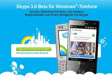 Skype 3.0 Beta für Windows Mobile