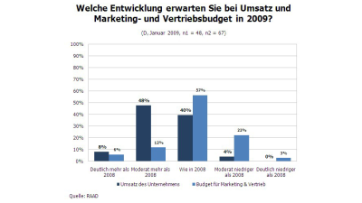 IT-Budgets: Umsatzerwartungen bei IT-Dienstleistern - Foto: RAAD Research