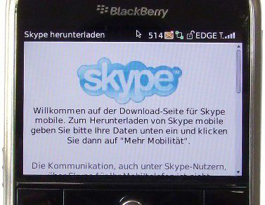 Skype for Blackberry ist ab Mai erhältlich.