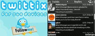 Twittix: Twitter-Software für Handys von Nokia.