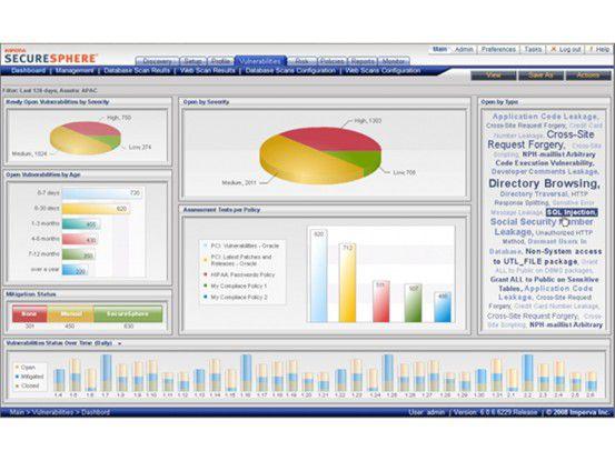 Mit SecureSphere 7 können sensitive Daten identifiziert und klassifiziert, Risiken erkannt, Ursachen ermittelt und notwendige Schutzmaßnahmen ergriffen werden.
