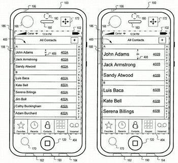 Apple Patentantrag für eine dynamische Benutzeroberfläche. Foto: US-Patentamt