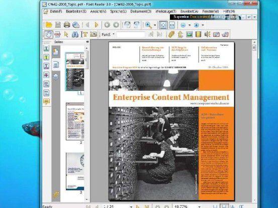 Der Foxit Reader ist eine sichere Alternative zu Adobes PDF-Betrachter.