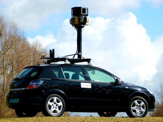 """Mit solchen Autos nimmt Google die Bilder für """"Street View"""" auf."""