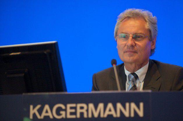 Henning Kagermann auf der diesjährigen Hauptversammlung der SAP.