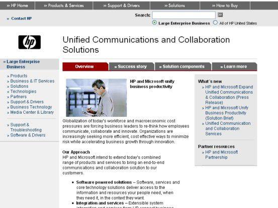 Hewlett-Packard und Microsoft wollen eine UCC-Komplettlösung entwickeln, mit der Unternehmen die Produktivität verbessern und Kosten senken können.
