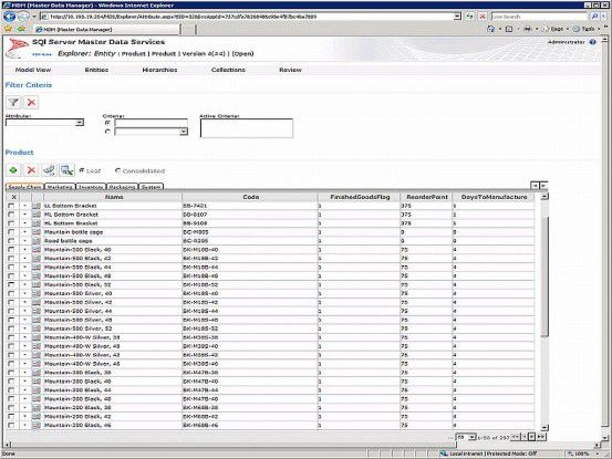 Der MDM Explorer ist die Benutzeroberfläche der neuen Stammdatendienste im SQL Server 2008 R2.