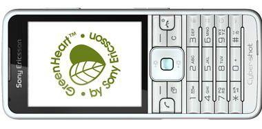 C901 (Foto) und Naite: Sony Ericsson zeigt ein grünes Herz.