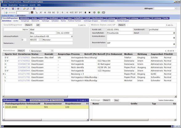Für die Verarbeitung von Aktivitäten nutzt die Applikation nun Standard-Features der Siebel-CRM-Software.