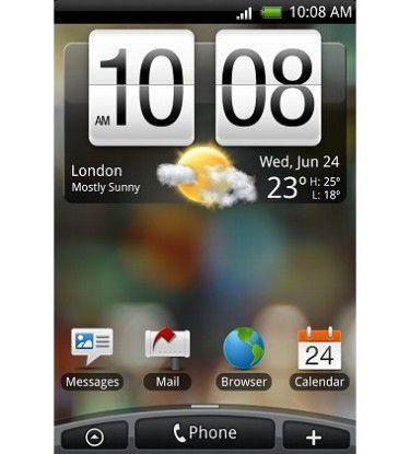 """Mit """"Sense"""" überdeckt HTC nun auch die Oberfläche von Google Android."""