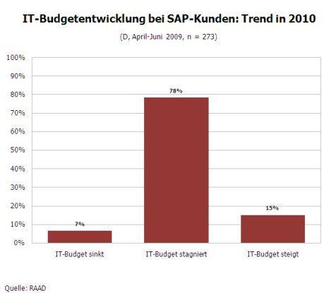 IT-Budget bei SAP-Kunden: Trend für 2010