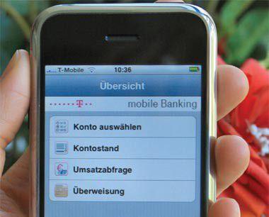 Telekom Banking jetzt für iPhone und iPod Touch verfügbar.