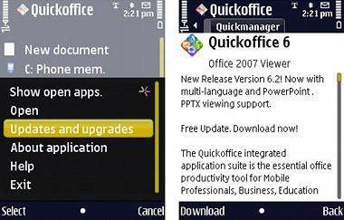 Quickoffice 6 fürTouchscreen-Handys: Kostenloses Update verfügbar.