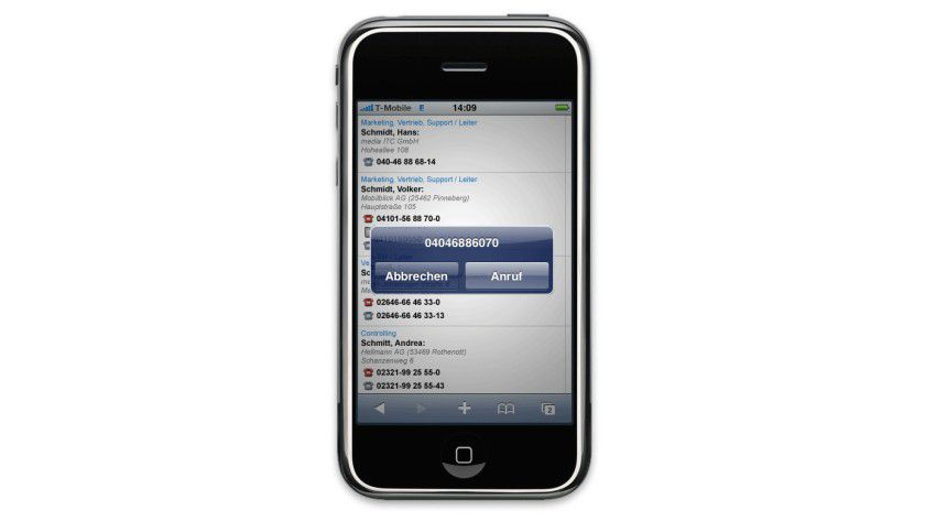 CRM unterwegs: Mobiler Zugriff auf die CRM-Software. (Quelle: Wice)