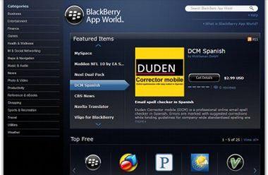 Blackberry App World jetzt auch als Webstore.