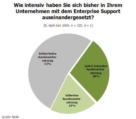 Beschäftigung mit SAP Enterprise Support (Quelle: RAAD Research)