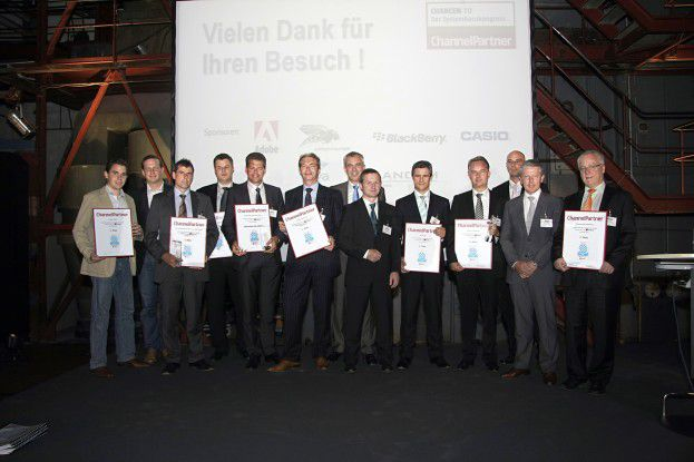 Alle Preisträger des diesjährigen Systemhaus-Awards. (Foto: Urban Decker)