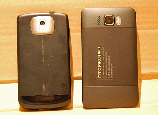 Das HTC Leo - rechts im Bild und dort als HTC Pro Three bezeichnet. Foto: www.pda.pl