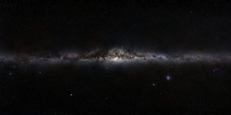 Der Weltraum, unendliche Pixel.